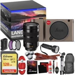 Leica TL Mirrorless Digital Camera (Titanium) - Master Landscape Photographer Kit - Memory Card - Accessories with Leica SL 24-90mm f/2.8-4 ASPH. Lens