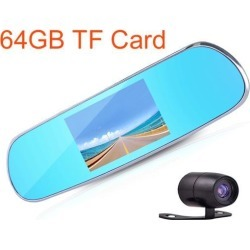 GPS 3D Navigate 5inch touch LCD 64GB android 4.4 rearview mirror car dvr dual lens 1080P full HD car camera GPS Logger WiFi parking system found on Bargain Bro India from Newegg Business for $147.73