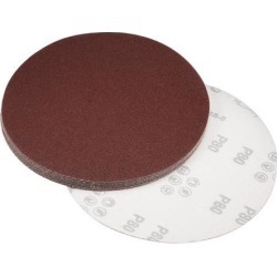 8-inch Hook and Loop Sanding Discs, 80-Grits Aluminum Oxide Flocking Sandpaper for Random Orbital Sander 10pcs