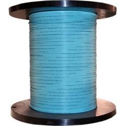 Bulk Zipcord Fiber Optic Cable, Multimode, Duplex, 50/125, OM3, Riser Rated, Spool, 1000 foot - Aqua