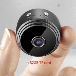 WIFI Mini Camera HD 1080P IR Night Vision DVR Wireless IP P2P Micro Camera Motion Sensor WIFI H.264 Cam Video Recorder+32G TF card