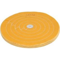 "12"" Dia 50 Plies Round Shape Polishing Buffing Mop Cloth Wheel Grinder Yellow"