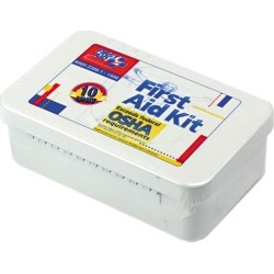 First Aid Only 240-AN Unitized First Aid Kit for 10 People, 46 Pieces, OSHA/ANSI, Plastic Case