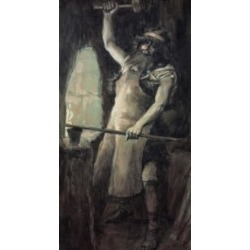 Posterazzi SAL9998 Tubal-Cain James Tissot 1836-1902 French Jewish Museum New York City Poster Print - 18 x 24 in.