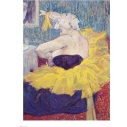 Posterazzi BALXIR36939LARGE The Clowness Cha-U-Kao in A Tutu 1895 Poster Print by Henri De Toulouse-Lautrec - 24 x 36 in. - Large