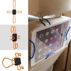 Portable Car Bike Cell Mobile Phone Holder Hanging Mount Tablet Stand Flexible - Orange
