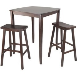 Winsome 3pc Inglewood High/Pub Dining Table with Saddle Stool
