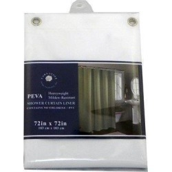 Carnation Home Fashions SCEVA-6/26 Peva Shower Curtain Liner 6 Gauge with Metal