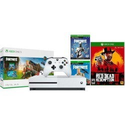 Xbox One S Battle Royale RDR 2 Bonus Bundle: Fortnite, Eon Cosmetic, 2,000 V-Bucks, Red Dead Redemption 2 and Xbox One S 1TB Gaming Console - White