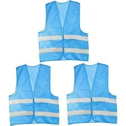 Reflective Mesh Design Security Vest for Jogging Traffic Safety Sky-Blue Color 3pcs found on Bargain Bro Philippines from Newegg Canada for $16.66