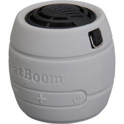 BeatBoom BB3000-SB Silver/Black Portable Wireless Bluetooth Speaker with Built in Speakerphone