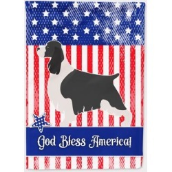 English Springer Spaniel American Flag Canvas House Size BB8354CHF