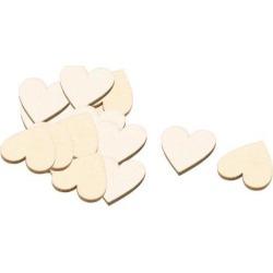 Wooden Love Heart Shaped DIY Accessories Embellishment Beige 20 x 17mm 20 Pcs