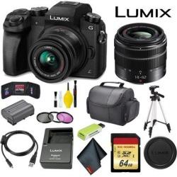 Panasonic Lumix DMC-G7 Mirrorless Micro Four Thirds Digital Camera with 14-42mm Lens Master Bundle