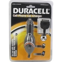 Duracell Black Universal Apple Iphone (30 Pin) Car Charger (2.1a) - Du5212
