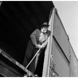 Posterazzi SAL25544271 Low Angle View of a Senior Man Standing in a Train Car Poster Print - 18 x 24 in.