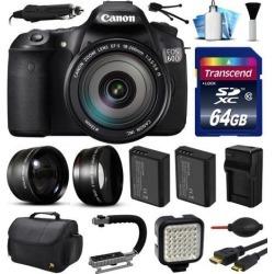 Canon EOS 60D SLR Digital Camera w/ EFS 18-200mm IS Lens (64GB Essential Bundle)