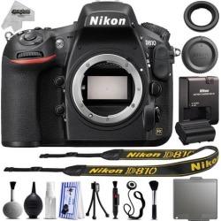 Nikon D810 36.3MP 1080P DSLR Camera w/ 3.2' LCD - Wi-Fi & GPS Ready - 7 fps + 18PC Starter Kit