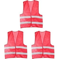 Reflective Mesh Design Security Vest for Jogging Traffic Safety Dark Red 3pcs found on Bargain Bro India from Newegg Canada for $16.64