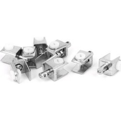 4.5mm-8mm Thickness Adjustable Screw Metal Glass Clamp Clips 8 Pcs