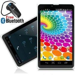Indigi 7' Slim Android KitKat Tablet PC 3G Wireless Smartphone - Free Bluetooth Headset