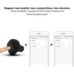 TWS Mini Size Wireless Bluetooth Stereo Bass In-Ear Earphone for Smartphones