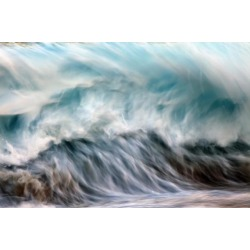Posterazzi DPI12305500 Ocean Wave Blurred by Motion - Hawaii United States of America Poster Print by Vince Cavataio, 19 x 12
