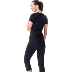 Neoprene Sweat Suit Weight Loss Slimming Shapewear Set Shirt Body Shaper L