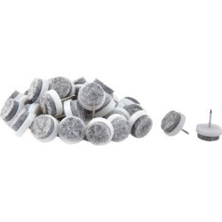 Unique Bargains 40 Pcs Antislip Plastic Felt Round 17mm Chair Foot Cover Table Furniture Leg Protector White Gray found on Bargain Bro India from Newegg Canada for $11.10