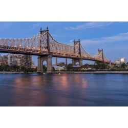 Posterazzi DPI12284580 Queensboro 59Th Street Bridge at Twilight - Queens New York United States of America Poster Print - 19 x 12 in.