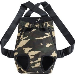 Pet Dog Carrier Camo Adjustable Front Chest Backpack Pet Cat Puppy Holder Bag for Travel Outdoor Medium