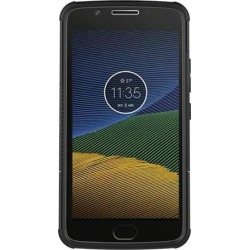 Motorola Moto G5 Case, Heavy Duty [Shockproof] Hybrid Hard Snap On Anti Slip Warrior Armor Protective Cell Phone Case Cover with Stand & Flexible