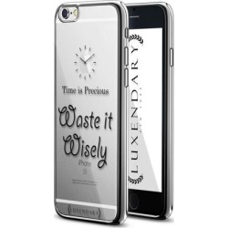 LUXENDARY 'TIME IS PRECIOUS' QUOTE DESIGN CHROME SERIES CASE FOR IPHONE 6/6S PLUS