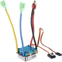 1pc 320A Brushed ESC Electric 2 Mode Brake 5V for Boat Accessories T-Head