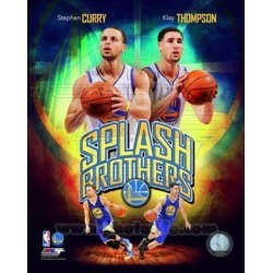 Posterazzi PFSAARS11301 Stephen Curry & Klay Thompson Splash Brothers Portrait Plus Sports Photo - 8 x 10 in.