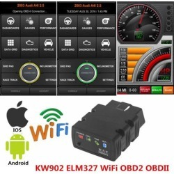 WiFi KW902 ELM327 OBD2 OBDII Auto Fault Car Engine Diagnostic Scanner Tool For iPhone Android