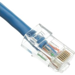 Cat5e Ethernet Patch Cable, Bootless, 3 foot - Blue