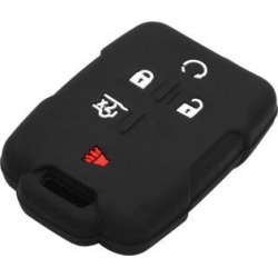 Black 5 Button Auto Car Remote Key Case Holder Shell Cover for GMC