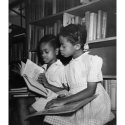 Posterazzi SAL9903446 Girl with Her Brother Reading a Book Poster Print - 18 x 24 in.