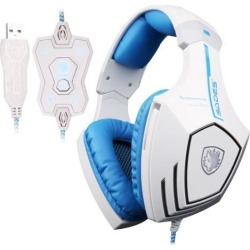 A60 7.1 USB Surround Sound Stereo Pro PC Gaming Headset Over-Ear Headband