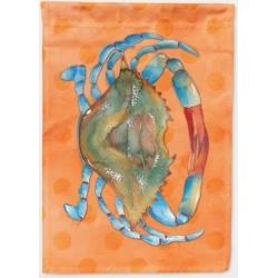 Blue Crab Orange Polkadot Flag Canvas House Size BB8248CHF