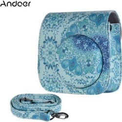 Andoer PU Camera Case Bag for Fujifilm Instax Mini 9/8+/8s/8, Blue W7O7