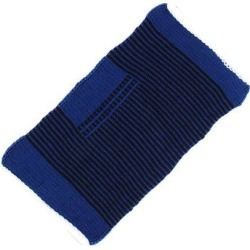 Sports Athletics Pullover Elastic Band Elbow Support Brace Protector Blue