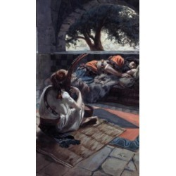Posterazzi SAL999228 David Plays the Harp Before Saul James Tissot 1836-1902 French Jewish Museum New York USA Poster Print - 18 x 24 in.