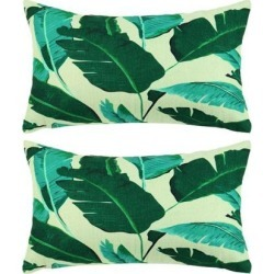 Pack of 2,Green Leaves Throw Pillow Cover, Pattern Cushion Cover Cotton Plant Pillow Case Square Pillow Protectors Home Decorative for.