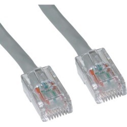 Cable Wholesale Cat5e Ethernet Patch Cable Bootless 10 foot - Gray