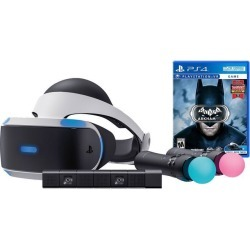 PlayStation VR Batman Starter Bundle (4 items): VR Headset, 2 Move Motion Controllers, PlayStation Camera, Batman: Arkham VR Game Disc