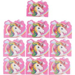 10 Pieces Magical Unicorn Invitation Cards Kids Birthday Party Supplier