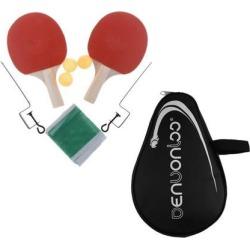 Table Tennis Racket Ping Pong Bat Set 3 Balls+Nylon Bats Paddle Cover Bag