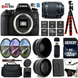 Canon EOS Rebel T6S DSLR Camera 18-55mm is STM Lens Deluxe Combo